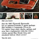 """1965 Plymouth Barracuda Ad Digitized and Re-mastered Poster Print """"Did You Know"""" 24"""" x 32"""""""