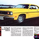 "1970 Plymouth Duster Ad Digitized & Re-mastered Poster Print ""Dusting Of the Competition"" 24"" x 36"""