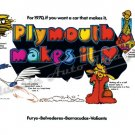 "1970 Plymouth Rapid Transit System Ad Digitized & Re-mastered Print ""Plymouth Makes It"" 24"" x 36"""