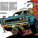 "1968 Plymouth Road Runner Ad Digitized and Re-mastered Print ""Acceleratii Rapidus Maximus"" 24""x36"""