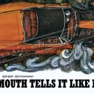 "1969 Plymouth Road Runner Ad Digitized and Re-mastered Poster Print ""Tells It Like It Is"" 24"" x 36"""