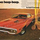 "1971 Plymouth Road Runner Ad Digitized and Re-mastered Poster Print ""Still Goes Beep Beep"" 24""x36"""
