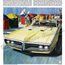 "1968 Pontiac Firebird Ad Digitized and Re-mastered Poster Print ""Never Played Wide-Tracking"" 24""x36"""