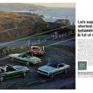 "1968 Firebird & Camaro Ad Digitized & Re-mastered Print ""Shortest Distance Between 2 Points"" 24""x36"""