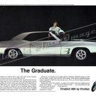 "1969 Pontiac Firebird Ad Digitized & Re-mastered Poster Print ""The Graduate"" 24"" x 32"""