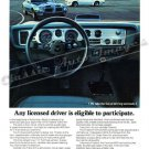 "1970 Pontiac Firebird & Trans Am Ad Digitized & Re-mastered Print ""Eligible to Participate"" 24""x32"""