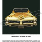 """1965 Pontiac GTO Ad Digitized & Re-mastered Poster Print """"There's a Live One Under the Hood"""" 24""""x32"""""""