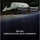 "1968 Pontiac GTO Ad Digitized & Re-mastered Print ""Before You're Too Old to Understand"" 24"" x 32"""