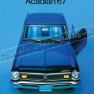 """1967 Pontiac Acadian Ad Digitized & Re-mastered Poster Print Brochure Cover 24"""" x 36"""""""