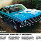 """1969 Chevelle SS 396 Ad Digitized & Re-mastered Print """"If Our Competition Had One Like It"""" 18"""" x 24"""""""