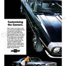 "1968 Chevrolet Camaro Ad Digitized & Re-mastered Print ""Customizing the Camaro"" 18"" x 24"""