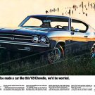 """1969 Chevrolet Chevelle Ad Digitized & Re-mastered Print """"We Would Be Worried"""" 18"""" x 24"""""""