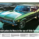 "1969 Chevrolet Nova Ad Digitized & Re-mastered Print ""Pokes Its Nova in the Eye"" 18"" x 24"""