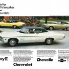 """1968 Chevrolet Lineup Ad Digitized & Re-mastered Print """"Powerful Suprises"""" 18"""" x 24"""""""