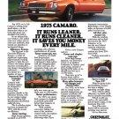 "1975 Chevrolet Camaro Ad Digitized & Re-mastered Print ""It Runs Leaner""  24"" x 36"""