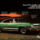 """1968 Plymouth GTX Ad Digitized & Re-mastered Print """"A Whole New Line"""" 18"""" x 24"""""""