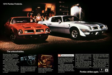 "1975 Pontiac Firebird Ad Digitized & Re-mastered Print ""The Untouchables"" 18"" x 24"""