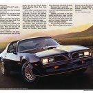 "1977 Pontiac Firebird Brochure Centerfold Ad Digitized & Re-mastered Print 18"" x 24"""