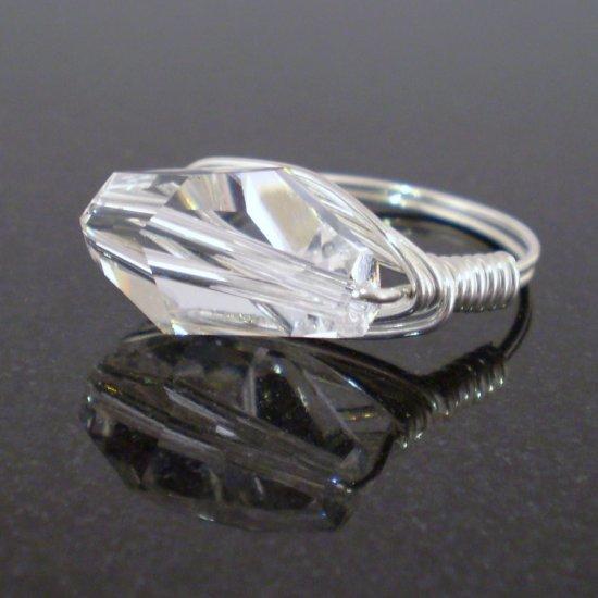 Stunning Swarovski Ring in Sterling Silver