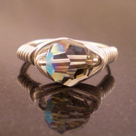 Sterling Swarovski Black Diamond Ring