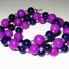 Berry Glass Bead Bracelet