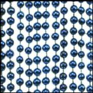 "7mm Metallic Beads 4 DOZEN 33"" Navy Blue Metallic Throw Beads"