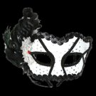 Black & White Masquerade Mask