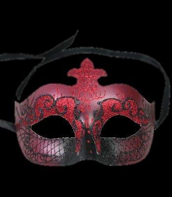 Red & Black Princess Masquerade Mask