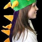 Dragon Style Purple Green & Yellow Mardi Gras Hat
