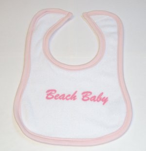 Beach Baby Bibs 6 Boys and 6 Girls  Free Shipping No Tax Great Deal on this small lot!