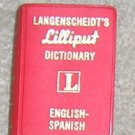 Langenscheidt's Lilliput Dictionary English /  Spanish - Little Book