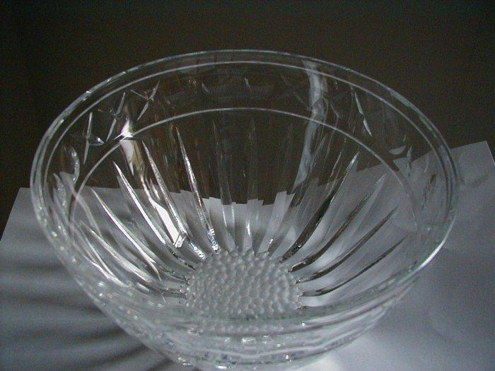 Hand cut Daisy  Crystal bowl