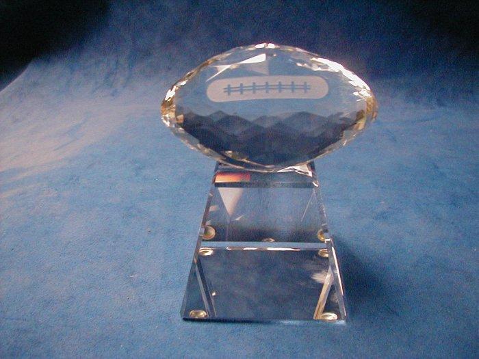 Football award glass