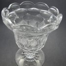 Cut glass pedistal vase  CHALICE ANTIQUE