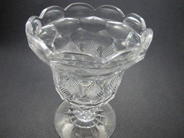 Cut glass pedistal vase  CHALICE ANTIQUE