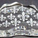 Cut Glass  fleur de lis pattern paperweight, 24% lead crystal