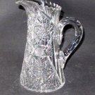 American Brilliant Period Cut Glass water jug  Antique , crystal