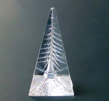 Hand Cut Glass reflection of tree Optical glass made in USA