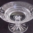 Signed Waterford glass Hand Cut compote  Irish Crystal
