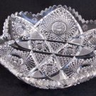 American Brilliant Period Cut Glass  6 sided dish   Antique crystal