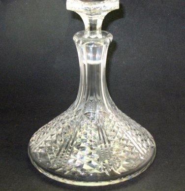 Hand Cut glass ships decanter  Well cut 5 lb