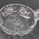 American Brilliant Period Hand Cut Antique Crystal  Signed Hawkes nappie