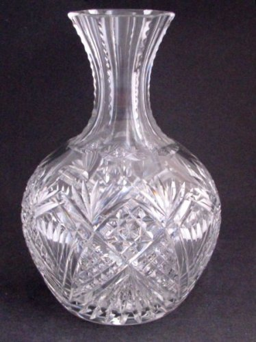 American Brilliant Period Cut Glass  carafe / vase  Antique