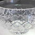 "Signed Waterford Hand Cut glass pedestal bowl / centerpiece 8""  Crystal"