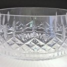 Signed Waterford Hand Cut glass large Lismore salad bowl  Crystal 9.5""