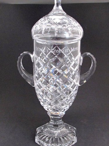 Hand Cut glass Grand trophy award for etching 24% lead