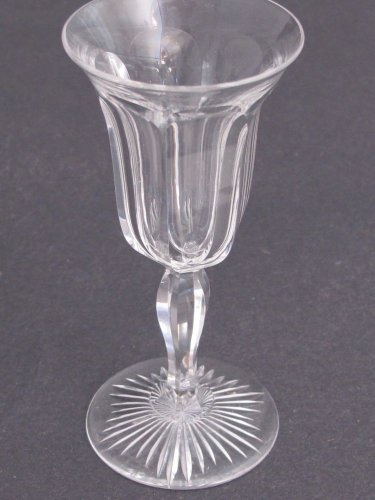 Cut Glass sherry glass Antique colonial stems Crystal
