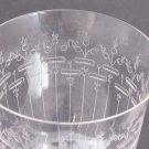 Hand Cut glass goblet crystal Dorflinger Chippendale