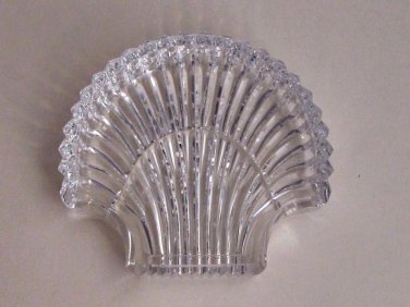 Signed Waterford cut  glass Hand Cut dish / tray shell