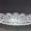 American Brilliant Period Cut Glass Hunts Royal oval dish ABP antique